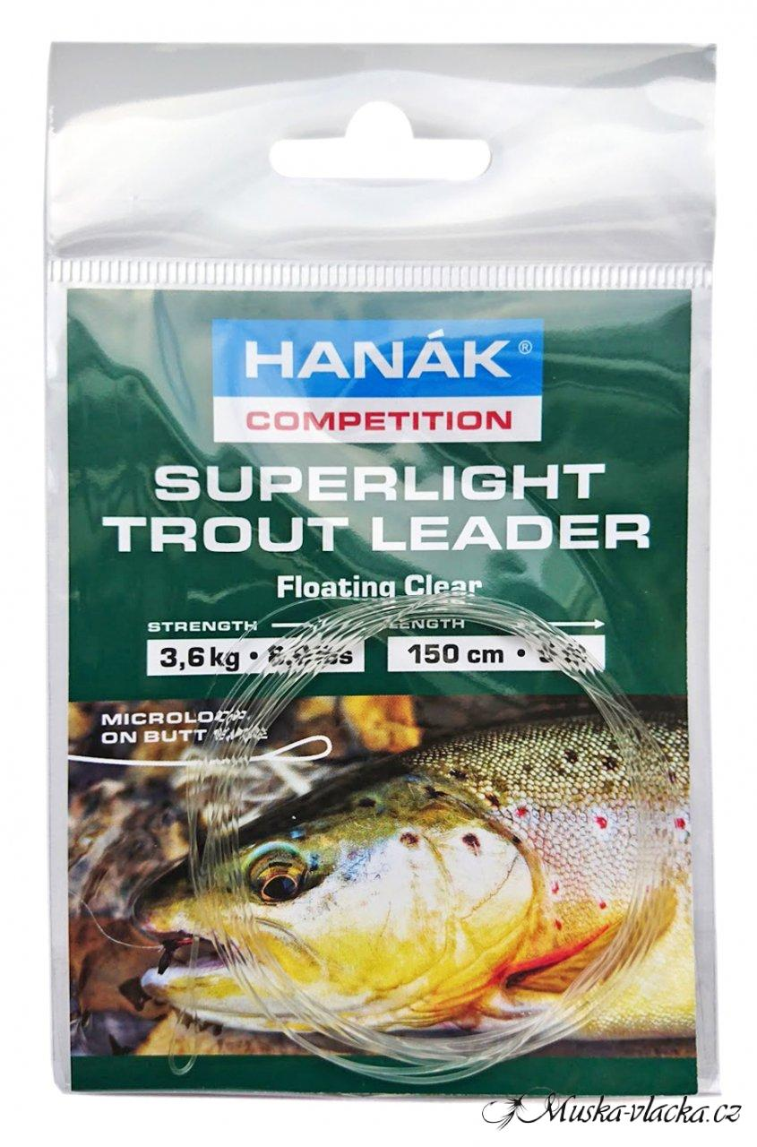 Návazec HANÁK Competition Superlight Trout 1,5 m