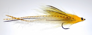 Yellow grizzly streamer