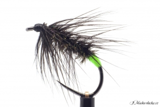 Chartreuse peacock black palmer