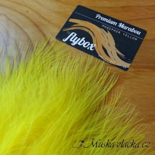 Premium marabou - Phosphor yellow