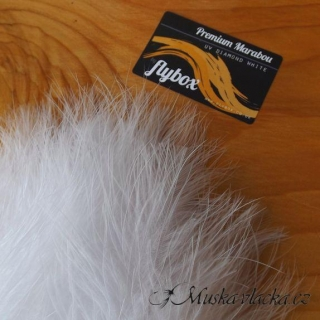 Premium marabou - UV diamond white